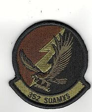 USAF PATCH AIR FORCE 352 SPECIAL OPERATIONS AIRCRAFT MAINTAINENCE SQ W/VELCROW