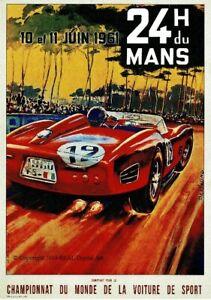 24hr Du Mans 1961 Full Colour A1 Poster New
