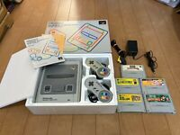 Nintendo Super Famicom Console with BOX and Instruction, 5 Games