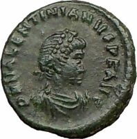 VALENTINIAN II 388AD Christ Victory Ancient Roman Coin CHI-RHO Rare i21914