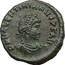 VALENTINIAN II 388AD Christ Victory Ancient Roman Coin CHI-RHO Rare i21914