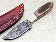 """SUPERB CUSTOM HAND FORGED DAMASCUS 8"""" FULL TANG SKINNER KNIFE RAM HORN - UT-3084"""
