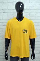 Maglia LEVIS Uomo Taglia Size XXXL Maglietta Shirt Cotone Manica Corta Giallo
