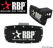 "RBP 2""  Black Powder Coated Aluminum Trailer Towing Hitch Receiver Cover Truck"