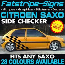 CITROEN SAXO GRAPHICS CHECKER CAR VINYL DECALS STICKERS STRIPES VTR VTS 1.4 1.6