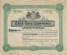 PENNSYLVANIA 1922 Erie Gas Company of the City of Erie Penna Stock Certificate