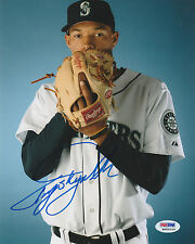 TAIJUAN SKY WALKER SIGNED AUTO'D 8X10 PHOTO PSA/DNA COA RG00259 SEATTLE MARINERS