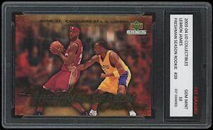LEBRON JAMES Vs. KOBE BRYANT 2003-04 UPPER DECK 1ST GRADED 10 ROOKIE CARD LAKERS
