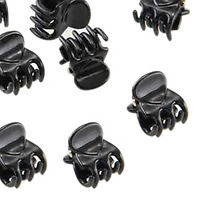 10 Small Plastic Black Hair Clips Claws Clamps HOT