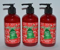 LOT OF 3 BATH & BODY WORKS WINTER CANDY APPLE GENTLE EXFOLIATING HAND SOAP WASH