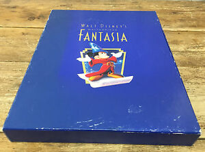 Walt Disneys Masterpiece Fantasia Commemorative Lithograph Deluxe Book Discs COA
