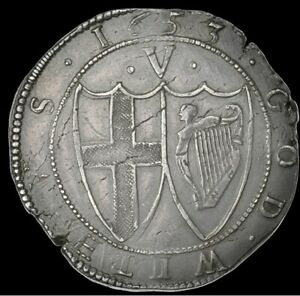 BEAUTIFUL 1653 Commonwealth of England Silver Crown
