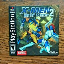 X-Men 2 Mutant Academy XMen II PS1 Playstation 1 PS One Instruction Manual Only