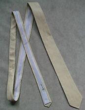 Slim Jim MOD REVIVAL Corbata Flan 1970s De Cuero Vintage Crema 4.8cm de extremo