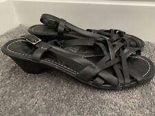 Clarks zapatos talla 5.5 38.5 Negro Criss Cross Sandalias De Tiras