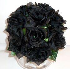 Rosenstrauß Seidenblumen - Blumenstrauß schwarz