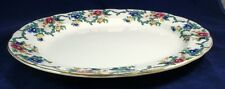 "Royal Cauldon VICTORIA SCALLOPED GOLD TRIM Platter 15 1/8"" V7173 GREAT CONDITION"
