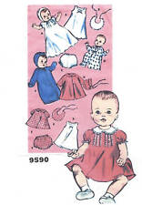 "9590 Vintage Baby Doll Pattern - Size 11""-- Year 1948"