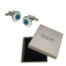 Mens Executive Cufflinks Evil Eye Eyeball By Onyx Art Opticians