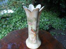 Vintage Crown Ducal Ware vase WITH PEACOCK PATTERN