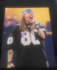 AXL ROSE SIGNED 8X10 PHOTO GUNS N ROSES W/COA+PROOF RARE WOW