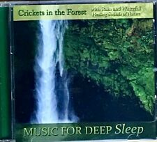 Crickets in the Forest, Rain, Waterfall-Healing Sounds-Music for Deep Sleep CD