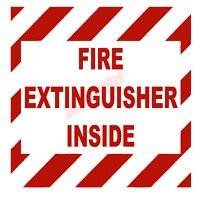 Fire Extinguisher Hash Emblem Vinyl Decal Window Sticker Car