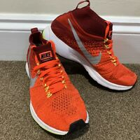 Nike Zoom Pegasus All Out Flyknit Red Trainers Ladies Womens Running UK Size 5