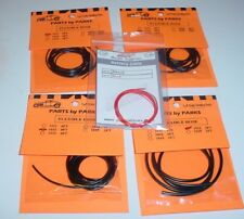 4 Pack Parts by Parks 1/25 Hollow Heater Coolent Hose Model Cars + Battery Cable