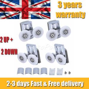 4 Pcs Top Replacement Shower Screen Door Rollers Zinc Alloy Runners Wheels Twin