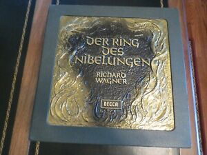Wagner Der Ring Des Nibelungen Solti--22LPs Wooden Box Set