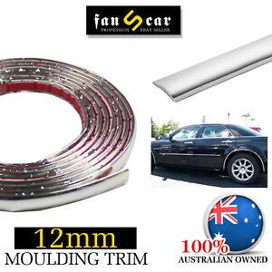 6Mx12mm Auto Body Chrome Molding Trim Strip Window Bumper Trunk Cover Protective