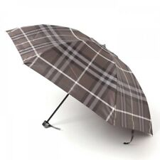 New Burberry Folding Umbrella Check 55cm Gray Mens from Japan