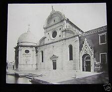 Glass Magic Lantern Slide VENICE S MICHELLE IN ISOLA 1910 ITALY