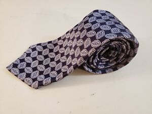 Robert Talbott Estate Blue Geometric Designer Silk Neck Tie Hand Made In USA