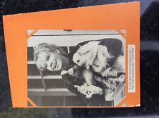 a1w ephemera 1960s picture hayley mills and dog