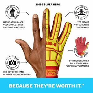 Ringers Gloves R169-10 Superheld Kunstleder Sicher Manschette Handschuhe, Groß