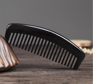 Natural Black Buffalo Horn Comb No Handle Wide Toothed Comb Hair Comb Freeship