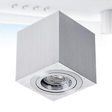 LED Halogen Deckenlampe Würfelleuchte Aufbauleuchte Spot Aluminium GU10 230V