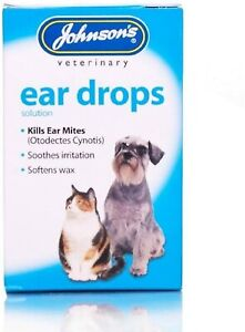 Cat Dog Ear Cleaner Drops Itching *Vet Infection Kills Soften Wax