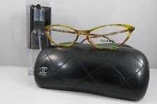 Chanel 3337 c.1523 Runway Yellow Plaid New Authentic Eyeglasses 53mm w/Case