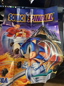 VINTAGE SONIC SPINBALL POSTER