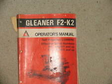 Allis Chalmers Combine F2 & K2 Series Operator's Catalog Manual