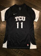 Game Worn Tcu Horned Frogs Soccer Jersey Texas Christian Used Nike #11 Size L