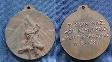 MEDAGLIA ANA 7° CAMPIONATO NAZIONALE DI SCI ALPINISMO LIZZANO IN BELVEDERE 1984