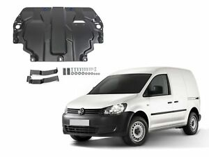 ENGINE + GEARBOX GUARD SKID PLATE UNDERTRAY BLACK STEEL for VW CADDY 2015 - 2020
