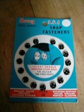 Card of unused Vintage Snap Fasteners black Newey size 00