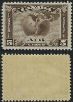 Canada Scott C2: 5c Mercury with Scroll in front of Globe Airmail, F-VF-H