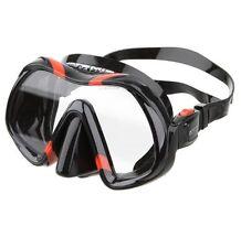 Atomic Aquatics Venom Dive Mask for FreeDiving Scuba Snorkeling Black/Red