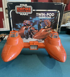 Star Wars Kenner Vintage 1980 Twin-Pod Cloud Car With Box & Instructions